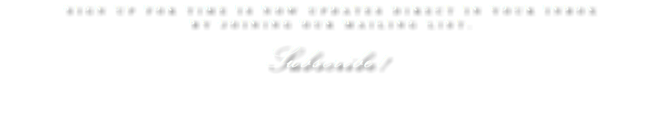 Sign up for Time Is Now updates direct in your inbox by joining our mailing list. Subscribe!